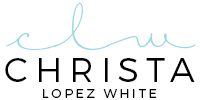 Christa Lopez White Logo
